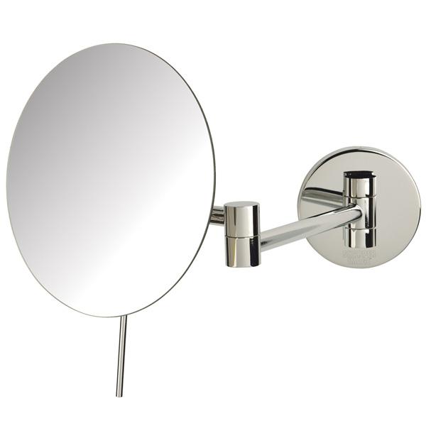Jerdon(ジェルドン) / JRT685C (クロム) 《拡大鏡》 [鏡面 直径20cm] 【5倍率】 壁面取付型ミラー
