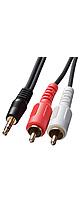 サンワサプライ / 3.5mmステレオミニプラグ-音声用pinプラグ(赤・白)のオーディオケーブル(10m) KM-A1-100K2