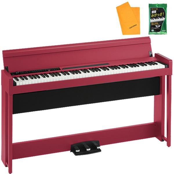 Korg(コルグ) / C1 AIR RD (レッド) - 88鍵盤 デジタルピアノ / 電子ピアノ - 【専用スタンド、3本ペダル、ヘッドホン付属】