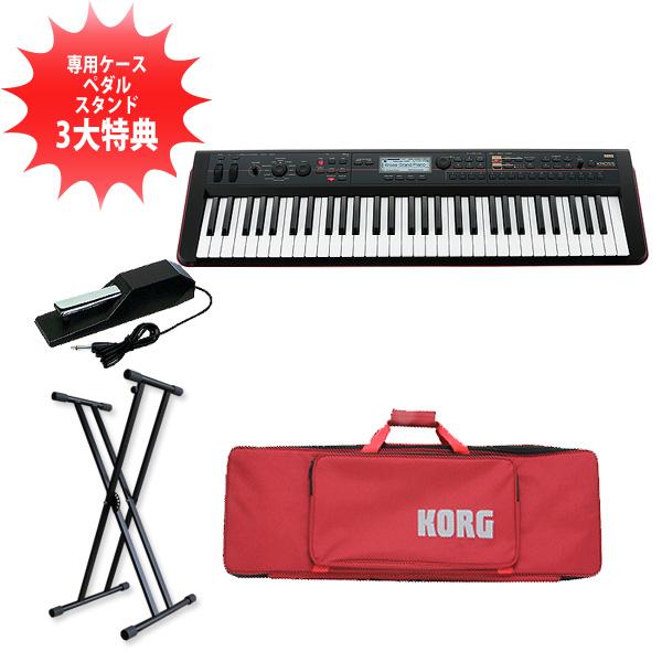 Korg(コルグ) / KROSS-61 (61鍵盤) ) - ミュージック・ワークステーション・シンセサイザー-ダンパーペダルセット