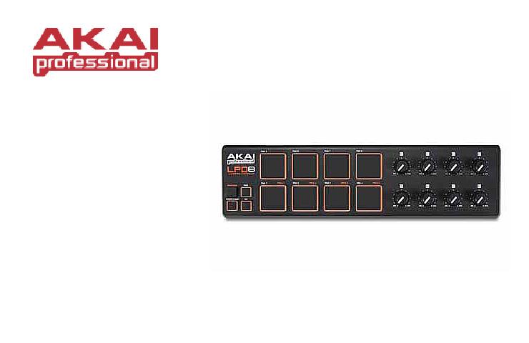 Akai(アカイ) / LPD8 (Laptop Pad Controller) 【USBケーブル付属】 【エディタソフト付属】
