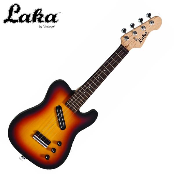 Laka by Vintage / VUV2  Satin Sunburst Electric Ukulele -エレクトリック・ソプラノウクレレ-