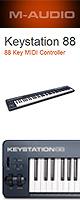 M-Audio(エム・オーディオ) / Keystation 88  【Ableton Live Lite付属】- ベロシティ対応鍵盤USB MIDIキーボードコントローラ - 【6月下旬以降】 1大特典セット