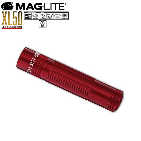 Mag-Lite(マグライト) / XL50 LED Flashlight (Red) - ハンディーライト -