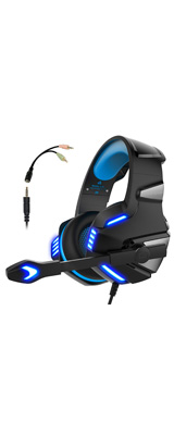 Micolindun / Gaming Headset (Blue) - PS4 / MAC / PC 対応ゲーミングヘッドセット - 1大特典セット