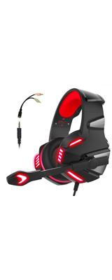 Micolindun / Gaming Headset (Red) - PS4 / MAC / PC 対応ゲーミングヘッドセット - 1大特典セット