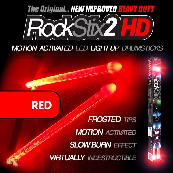 Rockstix2 / Red HD - 光るドラムスティック レッド - 【パリピグッズ】