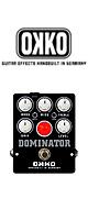 OKKO(オッコー) / DOMINATOR MKII-BLACK- - ディストーション - ■限定セット内容■→ 【・パッチケーブル(KLL15) 】