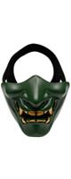 OUTRY / ハーフマスク (般若/鬼/グリーン) - ハロウィングッズ -