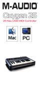 M-Audio(エム・オーディオ)  / Oxygen 25 (25鍵盤USB MIDIコントローラー )