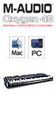 M-Audio(エム・オーディオ) / Oxygen 49 【49鍵盤USB MIDIコントローラー】 【Pro Tools対応】