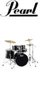 Pearl(パール) / ROADSHOW RS525SCW/C #31(ジェットブラック)【入門用 エントリーモデル】- ドラムセット - 2大特典セット