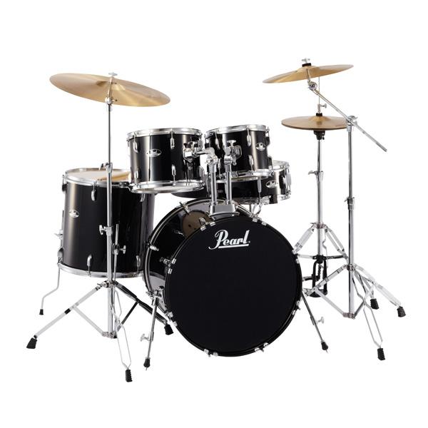 【タイムセール限定1台】Pearl(パール) / ROADSHOW RS525SCW/C #31(ジェットブラック)【入門用 エントリーモデル】- ドラムセット -【40%オフ】