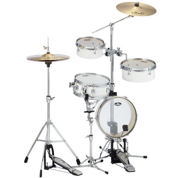 Pearl(パール) / Rhythm Traveler Light リズムトラベラー ライト 【RT-5124N #33 ピュアホワイト】 - コンパクト・ドラムセット  -
