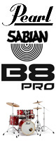 Pearl(パール) / Session Studio Classic コンパクトサイズ/ドラムフルセット SABIAN B8PROシリーズセット 【SSC905/C-D8P】 - ドラムセット -