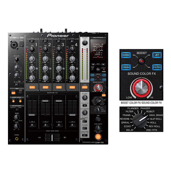 Pioneer(パイオニア)  / DJM-750-K ブラック