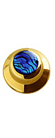 Q-parts(Qパーツ) / Blue Abalone Shell in Gold KGU-0702 - ノブ -