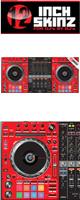 12inch SKINZ / Pioneer DDJ-SZ2 SKINZ (RED/BLACK) 【DDJ-SZ2用スキン】
