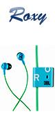【限定1台】ROXY(ロキシー) / JBL Reference 250 (Blue/Green) - マイク付イヤホン - 【B級品:外箱のヘコミあり】『セール』『ヘッドホン』