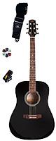 SX Guitars(エスエックス ギターズ) / SA1-SK-BLK アコースティックギター・セット