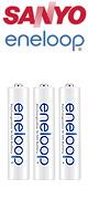 Sanyo(サンヨー) / eneloop:充電式ニッケル水素電池(単4形3本)
