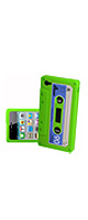 Shop4 Retro green Silicone Cassette Tape Style Case - Cover - Skin for Apple iPhone 4