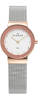 Skagen(スカーゲン) / Silver and Gold Tone Mesh Watch 358SRSC - レディース腕時計 -