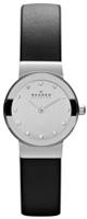 Skagen(スカーゲン) / Black Leather & Steel Watch 358XSSLBC - レディース腕時計 -