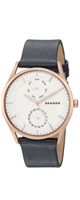 Skagen(スカーゲン) / 'Holst' Quartz Stainless Steel and Leather Casual Watch SKW6372 - 腕時計 -