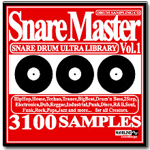 WAVELINEサンプリングCD / Snare Master Vol.1/SNARE DRUM ULTRA LIBRARY [CD-R]