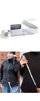 Stashcord(スタッシュコード) / The Smart Fabric Sleeve - イヤホン用絡まり防止スリーブ -(Silver)