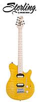 Sterling(スターリング) / by MUSIC MAN AX3 Translucent Yellow - エレキギター  - ■限定セット内容■→ 【・ESP ギターシールド 3M 】