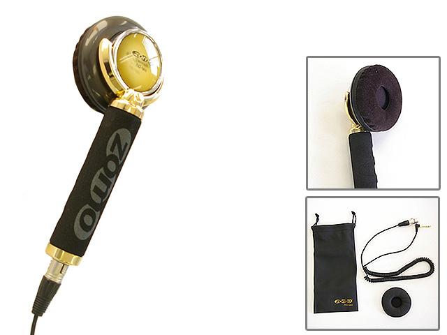 【ポイント10倍】Zomo(ゾモ) / Stick Headphone HD-120 (Gold) - 片耳ヘッドホン/スティック型 DJヘッドホン - 【カールコード仕様】 1大特典セット