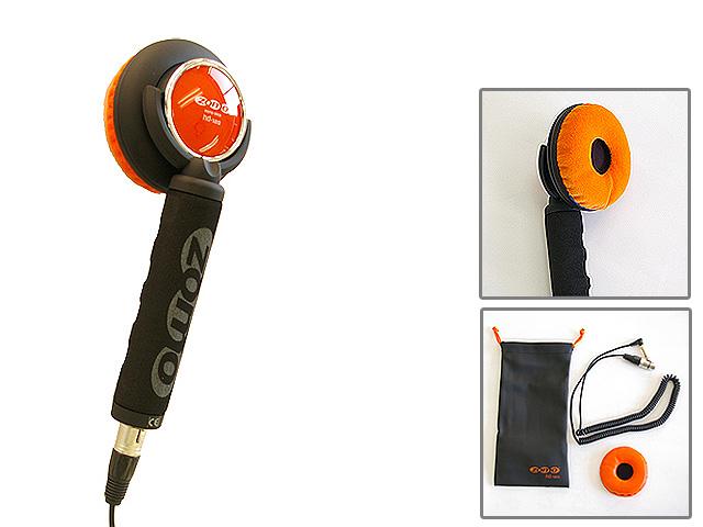 【ポイント10倍】Zomo(ゾモ) / Stick Headphone HD-120 (Orange) - 片耳ヘッドホン/スティック型 DJヘッドホン - 【カールコード仕様】 1大特典セット