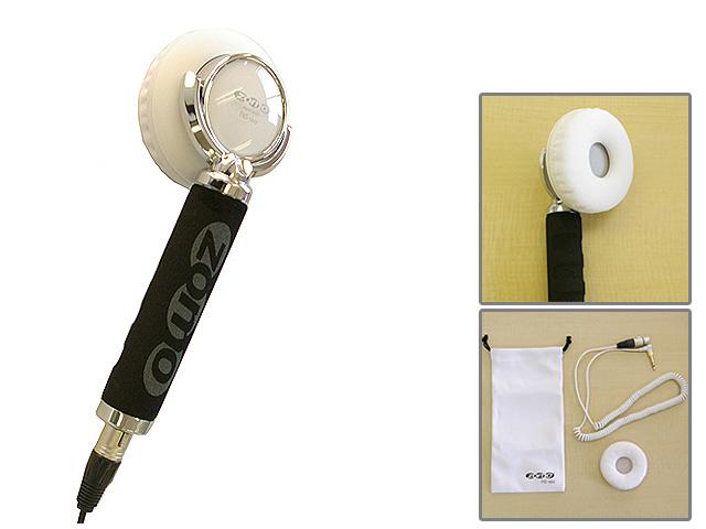 【ポイント10倍】Zomo(ゾモ) / Stick Headphone HD-120 (White) - 片耳ヘッドホン/スティック型 DJヘッドホン - 【カールコード仕様】 1大特典セット