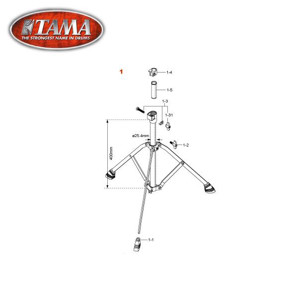 TAMA(タマ) / HC32S1 スタンド下段一式- シンバルスタンドパーツ