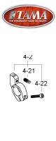 TAMA(タマ) /HP9142 アウターキャスティング(角頭ボルト、六角穴付ボルト付)  - ペダルパーツ -【スピードコブラ用パーツ】