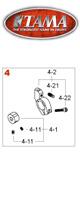 TAMA(タマ) /HP914 バリピッチビーターホルダー一式 - ペダルパーツ -【スピードコブラ用パーツ】