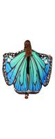 TLoowyTM /  蝶の羽ポンチョ (Blue) ハロウィン コスプレ