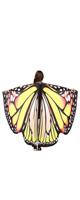 TLoowyTM /  蝶の羽ポンチョ (Yellow) ハロウィン コスプレ