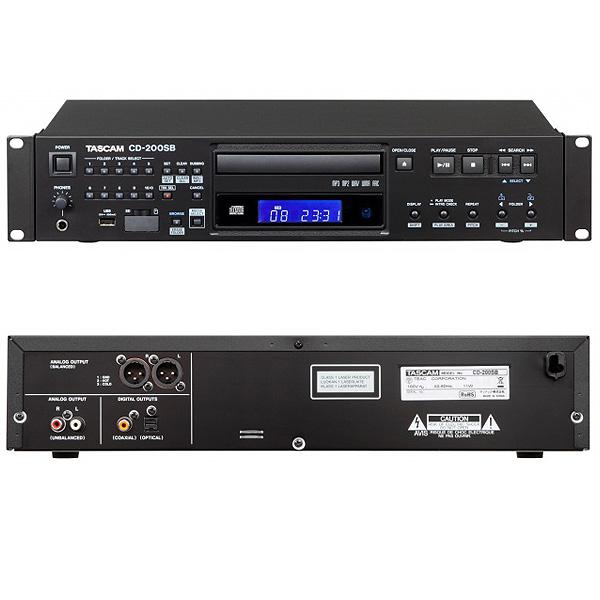 【限定1台】Tascam(タスカム ) / CD-200SB - 業務用CDプレイヤー USBデバイス 対応 -【箱ボロ特価品】