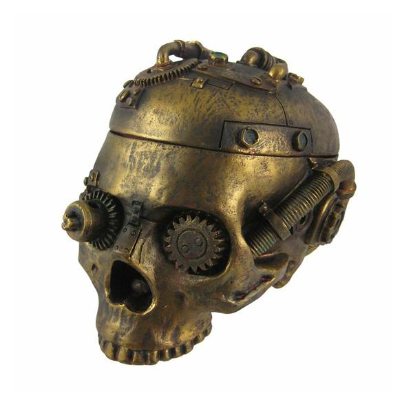 Things2Die4 /  Steampunk Skull Trinket Box - ドクロ灰皿 -