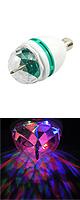 回転LEDライト ディスコボール 【DJ / クラブ / ショー / パーティー / バー / ウェディング / クリスマス等に最適】