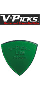 V-PICKS(ブイピック) / V-MPL-G Midium Pointed/1.5mm/Emerald Green - ピック  -