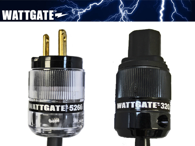 シールド電源ケーブル(WATTGATE)透明プラグ