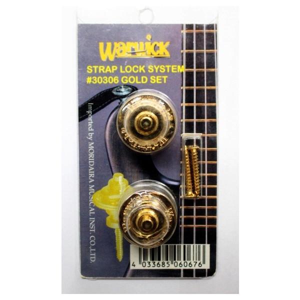 【限定1台】Warwick(ワーウィック) STRAP LOCK SYSTEM GOLD ロックピン『セール』『旧パッケージ』『パッケージイタミ』