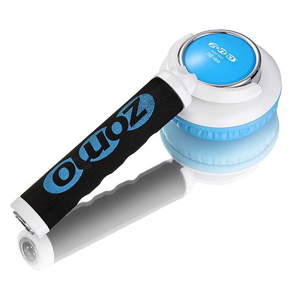 【ポイント10倍】Zomo(ゾモ) / Stick Headphone HD-120 (White/Blue) - 片耳ヘッドホン/スティック型 DJヘッドホン - 【カールコード仕様】 1大特典セット