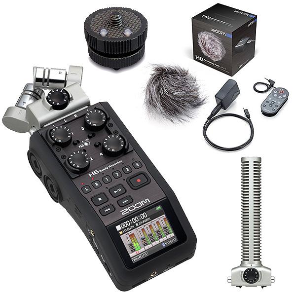 【H6用ショットガンマイクセットパッケージ】Zoom(ズーム) / H6 - ハンディレコーダー -