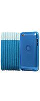 クリアー・ブルーシリコンケース + ブルーソックスケース + スクリーンプロテクター - iPod Touch 4th Generation - 8GB 32GB 64GB 対応 -